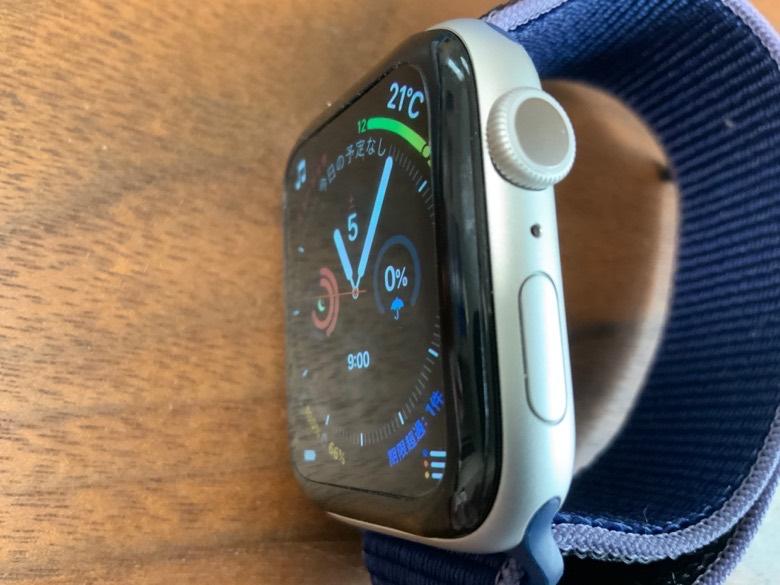 Apple Watchは端が曲面になっている