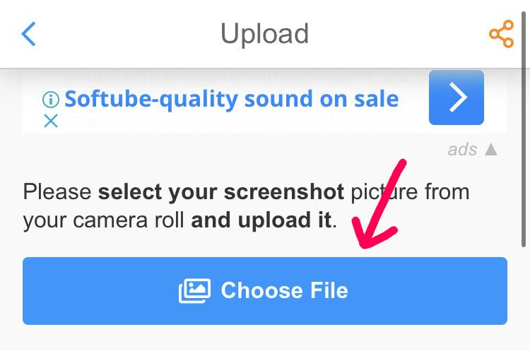 Choose Fileをタップ
