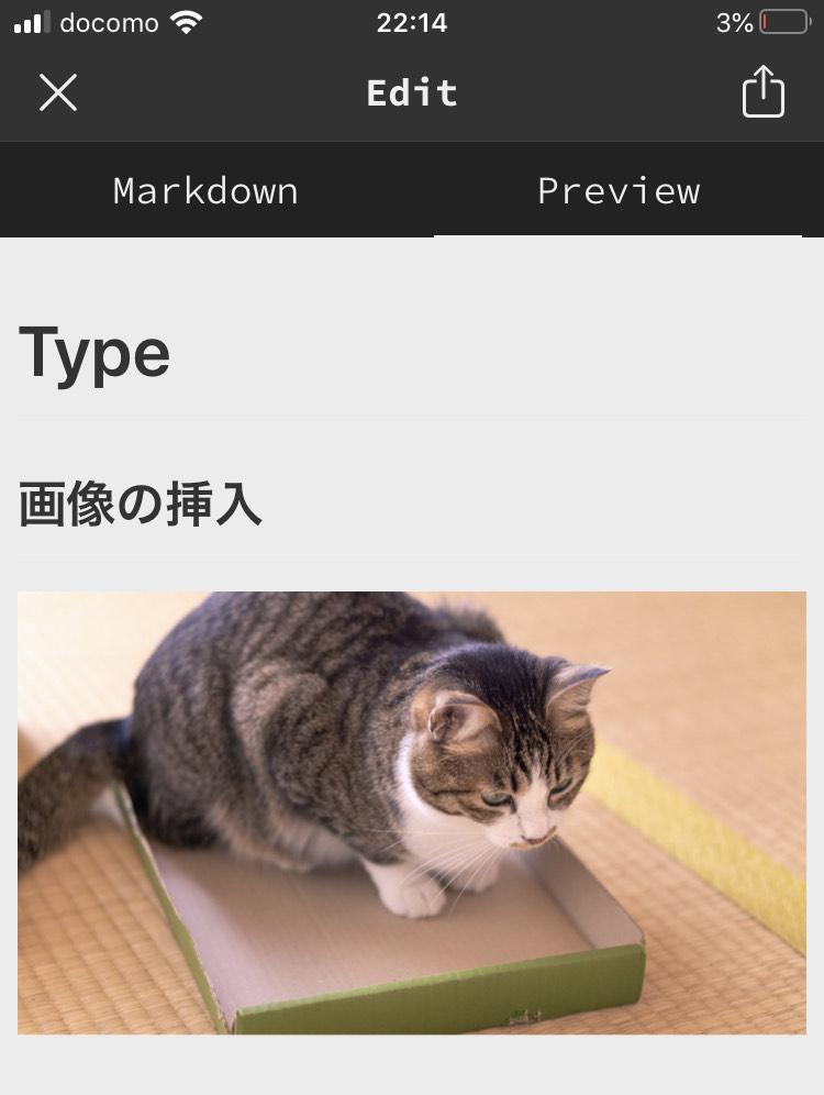 Type - 画像のプレビュー